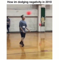 Funny, Lmao, and How: How im dodging negativity in 2018 Lmao I know his neck hurt