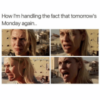 Facts, Funny, and Memes: How I'm handling the fact that tomorrow's  Monday again.. ⠀