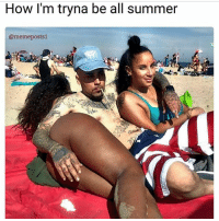 Summer Meme: How I'm tryna be all summer  @meme posts