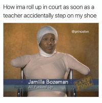"They gone be like ""sir how did it affect your arms"" Me: ""well shit i gotta use my arms yo tie my shoes right"": How ima roll up in court as soon as a  teacher accidentally step on my shoe  @princetvn  Jamilla Bozeman  All Fuckod Up They gone be like ""sir how did it affect your arms"" Me: ""well shit i gotta use my arms yo tie my shoes right"""