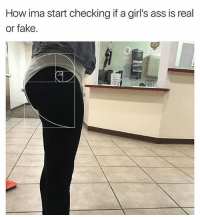 Ass, Fake, and Girls: How ima start checking if a girl's ass is real  or fake. The Thigh to ass ratio 🤔😂😂 @funnycahitstrue