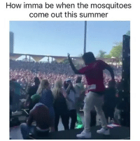 Whos mans is this lol: How imma be when the mosquitoes  come out this summer Whos mans is this lol