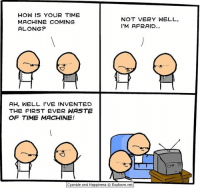 By Kris. Tag a friend who watches a LOT of television.⠀ ⠀ Hey, don't you know that TV junk will rot your brain?! Webcomics are much better for you. Read some here: www.explosm.net: HOW IS YOUR TIME  NOT VERY WELL,  MACHINE COMING  I'M AFRAID  ALONG?  AH, WELL I'VE INVENTED  THE FIRST EVER WASTE  OF TIME MACHINE!  Cyanide and Happiness Explosm.net By Kris. Tag a friend who watches a LOT of television.⠀ ⠀ Hey, don't you know that TV junk will rot your brain?! Webcomics are much better for you. Read some here: www.explosm.net