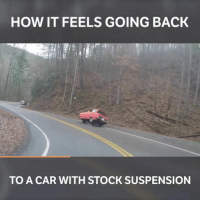 That stock suspension life...😂 📹 credit to @speedycop - - stock tuner tuning carsofinstagram carswithoutlimits serpentine: HOW IT FEELS GOING BACK  TO A CAR WITH STOCK SUSPENSION That stock suspension life...😂 📹 credit to @speedycop - - stock tuner tuning carsofinstagram carswithoutlimits serpentine