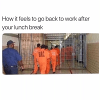 Work, Break, and Back: How it feels to go back to work after  your lunch break Who can relate? 😩😂🙋♂️ https://t.co/KSXmFTO7Mj