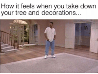 Got that empty feeling: How it feels when you take down  your tree and decorations... Got that empty feeling