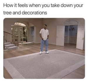 Too accurate by BasX MORE MEMES: How it feels when you take down your  tree and decorations  il Too accurate by BasX MORE MEMES