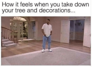True: How it feels when you take down  your tree and decorations... True