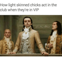 <p>Mingling with peasants is frowned down upon (via /r/BlackPeopleTwitter)</p>: How light skinned chicks act in the  club when they're in VIP <p>Mingling with peasants is frowned down upon (via /r/BlackPeopleTwitter)</p>