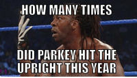 Meme, Nfl, and Running: HOW MANV TIMES  DID PARKE HIT THE  UPRIGHT THIS VEAR  NLOAD MEME GENERATOR FROM HTTPNMEMECRUNCHH CON I'm running out of fingers