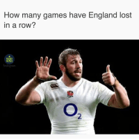 England, Memes, and Lost: How many games have England lost  in a row?  RUGBY  MEMES  2 The slide continues 🥀 rugby springboks england banter