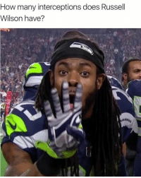 russel wilson: How many interceptions does Russell  Wilson have?