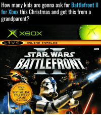 Too many.: How many kids are gonna ask for Battlefront ll  for Xbox this Christmas and get this from a  grandparent?  XBOX  L 1 V-E  ONLINE ENABLED  PAL  STAR WARS  SEQUEL  TO THE  BESTSELLUNG  STAR WARS  GAME  OF ALL TIME! Too many.
