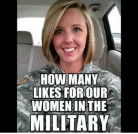 America's Freedom Fighters: HOW MANY  LIKES FOR OUR  WOMEN IN THE  MILITARY America's Freedom Fighters