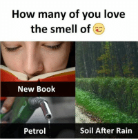 petrol: How many of you love  the smell of  New Book  Petrol  Soil After Rain