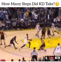 Basketball, Memes, and Nba: How Many Steps Did KD Take?  LAC 76  3RD 4:1 Follow @CanadaHoopsTV For More NBA Exclusives, Canadian Basketball & More @CanadaHoopsTV 🇨🇦