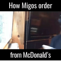 Rain drop. Drop top. Bout to get a happy meal lunch box😂😂 follow us @thuglifevids @thuglifevids By : @imacedream Tag your friends ✌: How Migos order  from McDonald's Rain drop. Drop top. Bout to get a happy meal lunch box😂😂 follow us @thuglifevids @thuglifevids By : @imacedream Tag your friends ✌