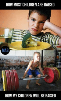 Mab, Gyms, and Relax: HOW MOST CHILDREN ARE RAISED  MAB  HOW MY CHILDREN WILL BE RAISED Inb4 bad parenting. Relax - it's a meme.   Gym Memes