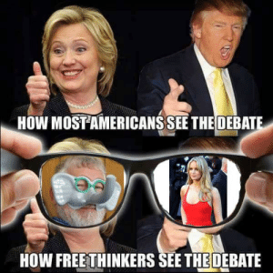 How, Debate, and  See: HOW MOSTAMERICANS SEE THE DEBATE  HOW FREETHINKERS SEE THE DEBATE https://t.co/TMabxLAadn