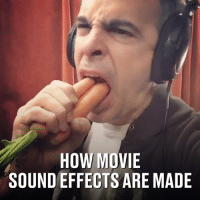 Dank, Movie, and 🤖: HOW MOVIE  SOUND EFFECTS ARE MADE This guy can create virtually any sound you can imagine... 🔊