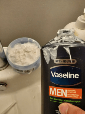How much was left in the bottle after the pump stops reaching in a Vaseline moisturizer bottle: How much was left in the bottle after the pump stops reaching in a Vaseline moisturizer bottle