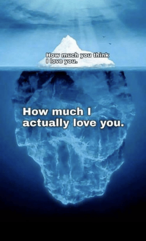 For anyone who needs it: How much you think  0 love you.  How much I  actually love you. For anyone who needs it