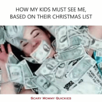 Keep dreaming, kid.: HOW MY KIDS MUST SEE ME,  BASED ON THEIR CHRISTMAS LIST  SCARY MOMMY QUICKIES Keep dreaming, kid.
