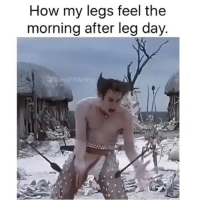 TAG a friend who feels like this after leg day 😂😂: How my legs feel the  morning after leg day.  ssFit TAG a friend who feels like this after leg day 😂😂