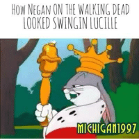 Bugs Bunny for the win....: HOW NEGAN ON THE WALKINGDEAD  LOOKED SWINGIN LUCILLE  MICHIGAN1991 Bugs Bunny for the win....