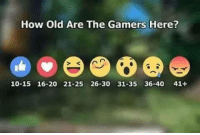 How old are you gamers? Credits: The League Community: How Old Are The Gamers Here?  10-15 16-20 21-25 26-30 31-35 36-40 41+ How old are you gamers? Credits: The League Community
