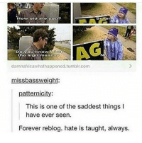 Memes, Tumblr, and Yo: How oldaro Yog  Do.yo uknow/ CAVİ0  damnafricawhathappe.tumblr.com  missbassweight:  patternicity:  This is one of the saddest things I  have ever seen  Forever reblog. hate is taught, always. ugh I hate this