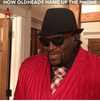 Memes, Phone, and 🤖: HOW OLDHEADS HANG UP THE PHONE