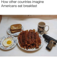 Breakfast: How other countries imagine  Americans eat breakfast