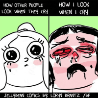 Gotta face up to it. (By @lorynbrantz ): HOW OTHER PEOPLE  LOOK WHEN THEy CRY  HOW I LOOK  WHEN I CRy  JELLyBEAN COMICS By LORYN BRANTZ /BF Gotta face up to it. (By @lorynbrantz )