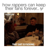 @richthekid getting some real music and business advice from @garyvee .. so true that all the best rappers care about their fans FIRST!: how rappers can keep  their fans forever..  GARYVEE  4  THAT SHIT IS FUCKING. @richthekid getting some real music and business advice from @garyvee .. so true that all the best rappers care about their fans FIRST!