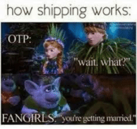 "~Finnick's little sugar cube: how shipping works:  OTP  ""wait, what?""  FANGIRLS: you're getting mamied. ~Finnick's little sugar cube"