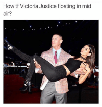 What kind of sorcery 😂 @icecoldsavage: How tf Victoria Justice floating in mid  air? What kind of sorcery 😂 @icecoldsavage
