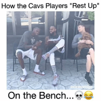 """Accurate asf 🤣 @bdotadot5 - Follow (ME) @cleanestclipz for more! 🏀: How the Cavs Players """"Rest Up""""  On the Bench Accurate asf 🤣 @bdotadot5 - Follow (ME) @cleanestclipz for more! 🏀"""