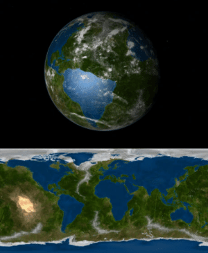 Earth, How, and Inverted: How the earth looks inverted.