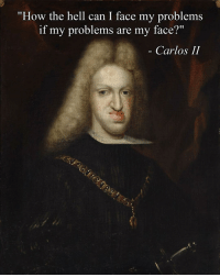 """when your mom calls you handsome 😂😂😂: """"How the hell can I face my problems  if my problems are my fa  Carlos II when your mom calls you handsome 😂😂😂"""