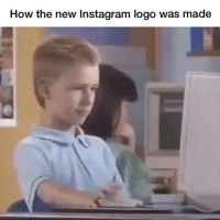 Nailed it (@reddit): How the new Instagram logo was made Nailed it (@reddit)