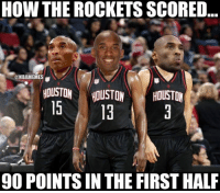 Nba, Houston, and Http: HOW THE ROCKETS SCORED  @NBAMEMES  HOUSTON HOUSTONHOUSTON  90 POINTS IN THE FIRST HALE How Rockets Nation actually scored 90 points in 2 quarters. http://bit.ly/HOU90pts1stHalf