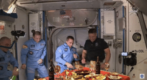 How the Russians greeted the Americans at the ISS.: How the Russians greeted the Americans at the ISS.
