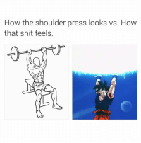 Memes, Shit, and 🤖: How the shoulder press looks vs. How  that shit feels. Fax only @supervillain909