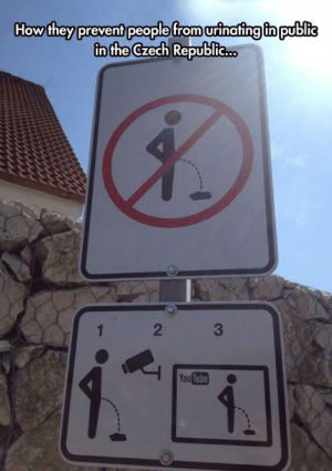 srsfunny:Desperate Times Require Desperate Measures: How they prevent people from urinafing fn public  in the Czech Republie..  2  You Tube srsfunny:Desperate Times Require Desperate Measures