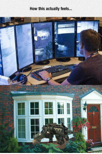 Tumblr, Blog, and Truth: How this actually feels... epicjohndoe:  The Truth About Using Multiple Monitors