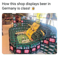 Beer, Memes, and Germany: How this shop displays beer in  Germany is class!  BRINK  REWE