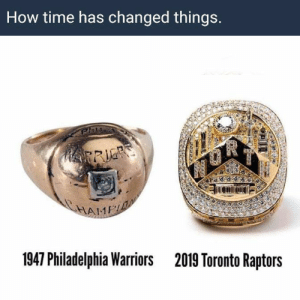 Time flies by so fast   via Open Court https://t.co/wG9Alu0MyM: How time has changed things.  HRRIE  HAME  1947 Philadelphia Warriors  2019 Toronto Raptors Time flies by so fast   via Open Court https://t.co/wG9Alu0MyM