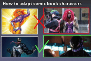 Book, How To, and Comic-Book: How to adapt comic book characters VENOM!!!!!!!