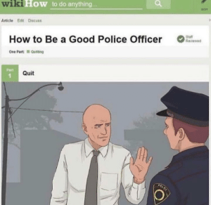 How to be a good police officer: How to be a good police officer